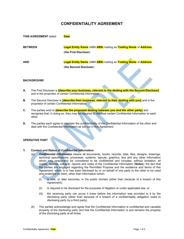 confidentiality-agreement-template-1