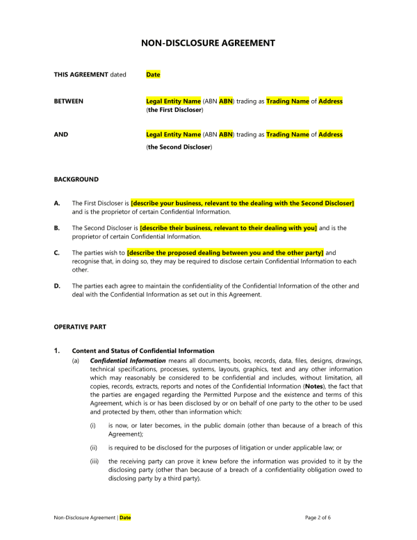 non-disclosure-agreement-template1