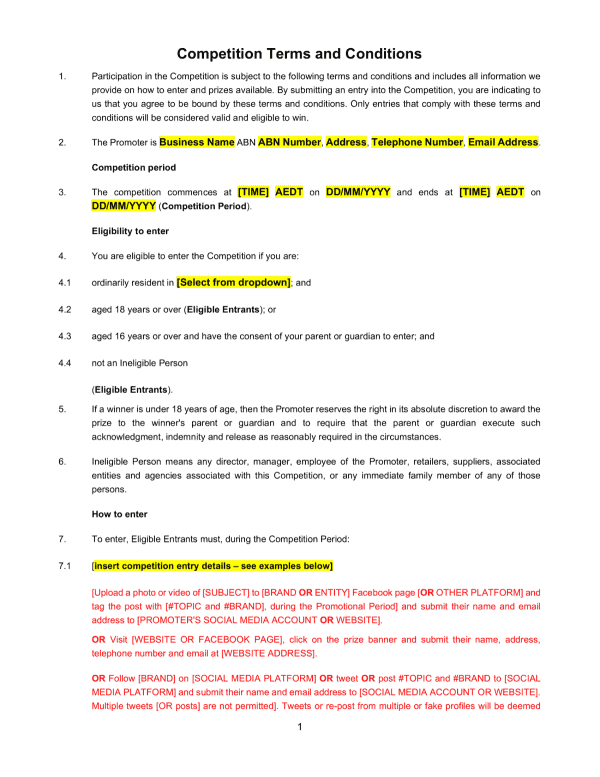 competition-terms-conditions-template-sample