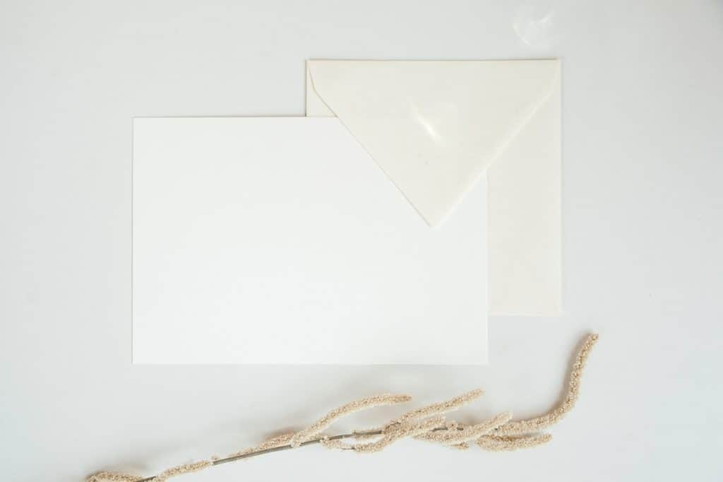 white paper on white surface